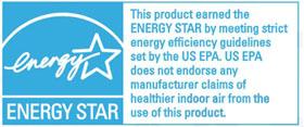 Blueair空气净化器美国能源部(EPA)能源之星能效认证