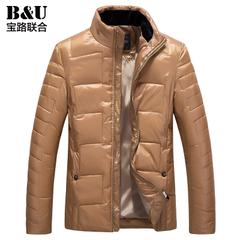 宝路联合男装外套2015冬款男装男士保暖棉服韩版修身棉衣8407012