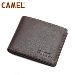 camel 骆驼钱包 真皮专柜正品 男士钱包 休闲包横款 钱夹男包