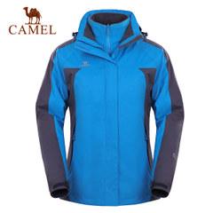 【断码清仓】CAMEL骆驼户外冲锋衣 女士防风防水两件套冲锋衣