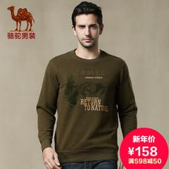 camel 骆驼男装加绒保暖男卫衣套头户外上衣韩版潮流时尚春季