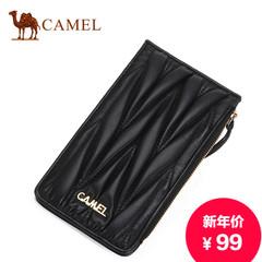 骆驼新款女士手拿包羊皮休闲女包横款多功能手抓包软皮手机包