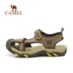 【断码清仓】骆驼户外沙滩鞋 男女头层牛皮沙滩鞋 防滑沙滩凉鞋