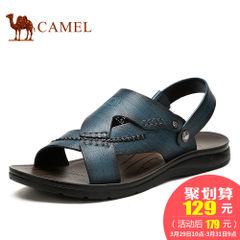 CAMEL骆驼男凉鞋 夏季凉鞋真皮休闲鞋露趾大码凉鞋男沙滩鞋