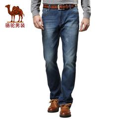Camel/骆驼男装牛仔裤 纯棉直筒牛仔裤男舒适休闲男裤长裤子薄款