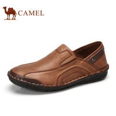 【热销5500件】CAMEL骆驼牌男鞋透气男士休闲皮鞋手工真皮低帮鞋