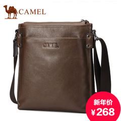 骆驼新款真皮男包头层牛皮竖款男士包包商务休闲单肩包斜挎包背包