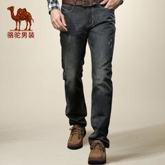Camel/骆驼牛仔裤男 男士牛仔裤直筒修身男裤休闲长裤青年男装