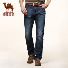 camel骆驼男装 春装潮流男士商务休闲直筒裤牛仔裤 男裤长裤子