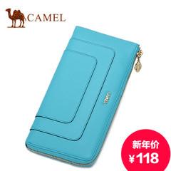 camel/骆驼正品新款女包真皮休闲女士女拿包横款带拉链牛皮手包