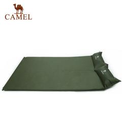 【热销1万】骆驼户外带枕自动充气垫 露营旅行双人防潮睡垫地席厚