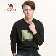 Camel骆驼户外 潮流男卫衣时尚套头圆领卫衣 纯棉长袖宽松上衣