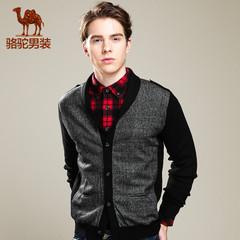 camel骆驼男装春季男士长袖毛衣外套商务潮流修身开衫羊毛衫