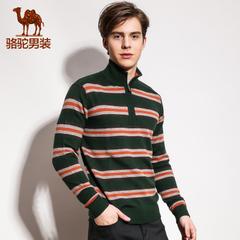camel/骆驼男装秋季外套男士韩版立领羊毛混纺毛衣 潮男