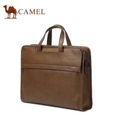 Camel骆驼男包  商务男士公文包牛皮手提斜挎包 男士商务休闲包袋