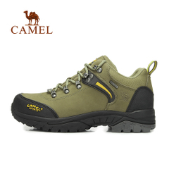 CAMEL骆驼户外登山鞋男款头层牛皮 低帮防滑耐磨徒步登山鞋正品