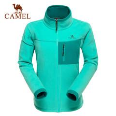 CAMEL骆驼户外女士抓绒衣 徒步登山防寒防风长袖开衫抓绒衣正品