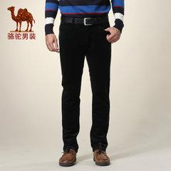 骆驼冬装新款男士商务休闲裤长裤中腰纯色灯芯绒裤子