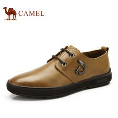 【特价清仓】Camel骆驼男鞋 春季舒适耐磨皮鞋 日常休闲系带鞋子