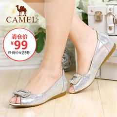 【特价清仓】camel骆驼女鞋春季时尚甜美水钻鱼嘴浅口女单鞋