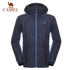 CAMEL骆驼户外皮肤衣 夏季快干透气连帽皮肤风衣男款 正品