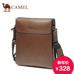 Camel/骆驼男包真皮单肩包男士包包 头层牛皮斜挎包 商务休闲挎包