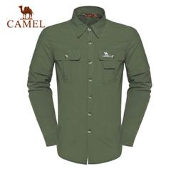 CAMEL骆驼户外速干衬衣 两截可拆卸男快干速干衬正品