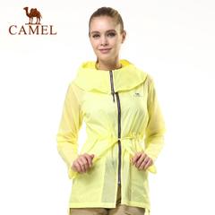 CAMEL骆驼户外女皮肤衣 夏季遮阳超薄清凉轻盈中长款运动皮肤风衣