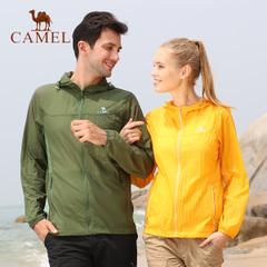 CAMEL骆驼户外情侣皮肤衣 夏季男女款超薄超轻透气快干连帽皮肤衣