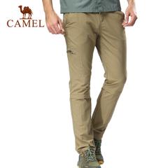 CAMEL骆驼户外男款速干裤 春夏男士可拆卸两截透气速干长裤正品