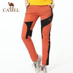 CAMEL骆驼户外女款 速干裤 夏季透气快干裤 徒步野营速干裤 正品