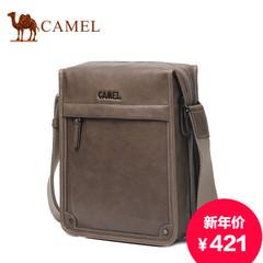 Camel/骆驼男包真皮单肩包斜挎包竖款牛皮包男包包休闲商务复古包
