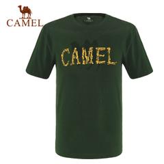 CAMEL骆驼户外男款短T恤 圆领棉短袖 舒适运动休闲短袖T恤正品