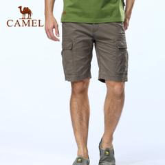CAMEL骆驼户外休闲短裤 春夏短裤 男款 纯棉多袋五分休闲裤 正品