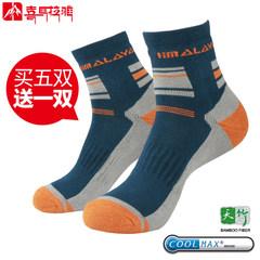 喜马拉雅男士运动袜 女中筒夏季跑步coolmax户外袜子登山袜徒步袜