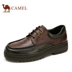 品牌特卖 Camel骆驼男鞋 热卖商务休闲真皮潮流低帮系带皮鞋