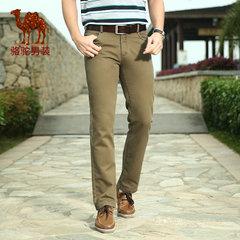 骆驼夏青年男士时尚修身休闲裤休闲长裤男裤子