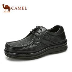 品牌特卖 camel骆驼男鞋 真皮系带商务休闲鞋男士皮鞋高档鞋