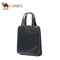 【清仓】Camel骆驼男士手提包休闲商务竖款单肩包时尚牛皮男包