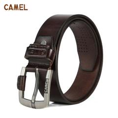camel骆驼皮具箱包头层牛皮牛仔百搭压线男腰带休闲皮带