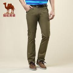 camel/骆驼男装 男士直筒时尚休闲裤长裤水洗中腰下装男裤