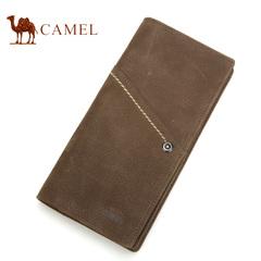 Camel骆驼皮具钱包 正品头层牛皮 钱包 男士中长款钱包 大钞夹