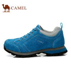 Camel骆驼户外女款休闲鞋 旗舰店磨砂皮系带运动休闲夏季女鞋
