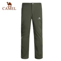 CAMEL骆驼户外男款软壳裤 男士防风保暖户外软壳长裤正品