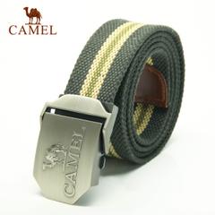CAMEL骆驼户外腰带 户外配件自动扣式帆布腰带 便携休闲腰带