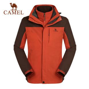 【韩寒定制款】骆驼户外冲锋衣秋冬男士保暖两件套三合一冲锋衣