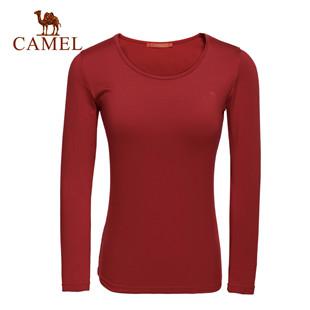 秋季新款 骆驼户外 女士保暖内衣裤套装 女保暖套装3F51002
