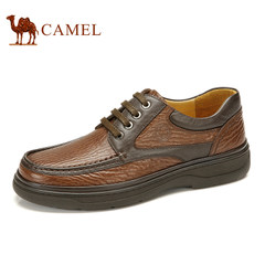 CAMEL骆驼男鞋春季 真皮头层牛皮日常休闲鞋耐磨系带低帮鞋子