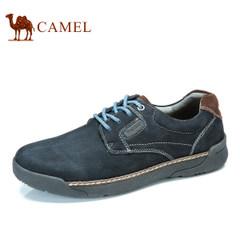 Camel骆驼男鞋 舒适磨砂皮系带男鞋 日常休闲男士鞋子