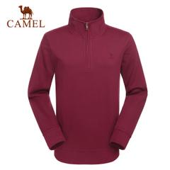 CAMEL骆驼户外休闲衣 男士长袖立领休闲套头T恤正品衣男款